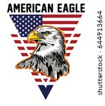 american eagle typography  t... | Shutterstock .eps vector #644913664