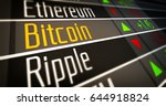 crypto currency market 3d...