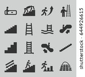 staircase icons set. set of 16...   Shutterstock .eps vector #644926615