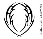 tattoo tribal vector design.... | Shutterstock .eps vector #644926789