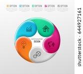 vector abstract 3d digital... | Shutterstock .eps vector #644927161