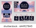 set of banners for black friday ... | Shutterstock .eps vector #644927845