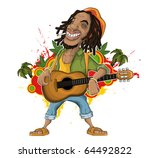 africa,african,afro,afro-caribbean,art,beard,beret,bracelet,carefree,cartoon,characters,dreadlocks,drug,face,fun