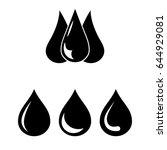 set of 2 vectors. pictogram... | Shutterstock .eps vector #644929081