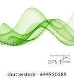color abstract wave on a light... | Shutterstock .eps vector #644930389