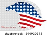 abstract image of the american... | Shutterstock .eps vector #644930395