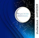 abstract blue background with... | Shutterstock .eps vector #644930509