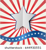 abstract image of the american... | Shutterstock .eps vector #644930551