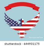 abstract image of the american... | Shutterstock .eps vector #644931175