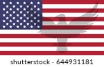 abstract image of the american...   Shutterstock .eps vector #644931181