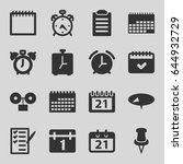 reminder icons set. set of 16...   Shutterstock .eps vector #644932729