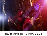 a man is playing guitar on... | Shutterstock . vector #644933161
