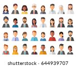 collage of diverse multi ethnic ... | Shutterstock .eps vector #644939707