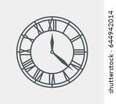 vintage round clock roman hour... | Shutterstock .eps vector #644942014