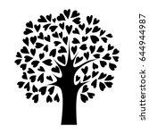 abstract black heart tree ... | Shutterstock .eps vector #644944987