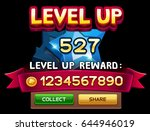 level up screen for slot game.... | Shutterstock .eps vector #644946019