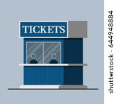 Ticket Booth Vector Flat Design.