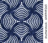 abstract indigo dyed striped... | Shutterstock . vector #644949265