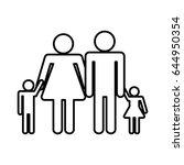 pictogram family icon | Shutterstock .eps vector #644950354