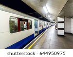train in underground station ... | Shutterstock . vector #644950975