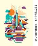 modern style illustration of... | Shutterstock .eps vector #644951281