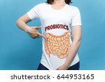 young woman wearing a t shirt... | Shutterstock . vector #644953165