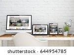 multidevice desktop with e... | Shutterstock . vector #644954785