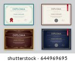 big set of diploma or... | Shutterstock .eps vector #644969695