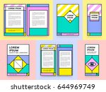 big set of visual identity in... | Shutterstock .eps vector #644969749