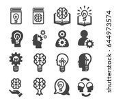 knowledge  thinking icons | Shutterstock .eps vector #644973574