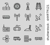 station icons set. set of 16...