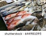 sea food at billingsgate fish... | Shutterstock . vector #644981095