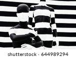 art mannequin black and white... | Shutterstock . vector #644989294