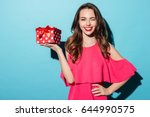 portrait of a happy smiling... | Shutterstock . vector #644990575