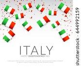 illustration of independence... | Shutterstock .eps vector #644992159