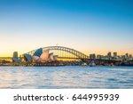 downtown sydney skyline in... | Shutterstock . vector #644995939