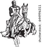 medieval knight of templar... | Shutterstock .eps vector #644996311