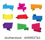 set of paper banners.vector... | Shutterstock .eps vector #645002761