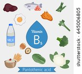 vitamin b5 or pantothenic acid... | Shutterstock .eps vector #645006805