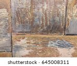 texture of wooden boards with... | Shutterstock . vector #645008311