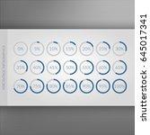 0 5 10 15 20 25 30 35 40 45 50... | Shutterstock .eps vector #645017341