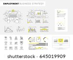 business employment big modern... | Shutterstock .eps vector #645019909