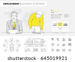 business employment big modern... | Shutterstock .eps vector #645019921
