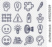 idea icons set. set of 16 idea... | Shutterstock .eps vector #645025039