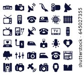 electronics icons set. set of... | Shutterstock .eps vector #645027355