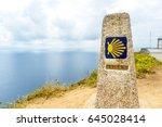 camino de santiago  final... | Shutterstock . vector #645028414