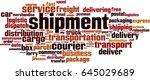shipment word cloud concept.... | Shutterstock .eps vector #645029689