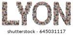 lyon multi ethnic group of... | Shutterstock . vector #645031117