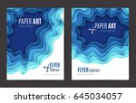 abstract paper cut background.... | Shutterstock .eps vector #645034057