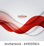 red vector template abstract... | Shutterstock .eps vector #645035821